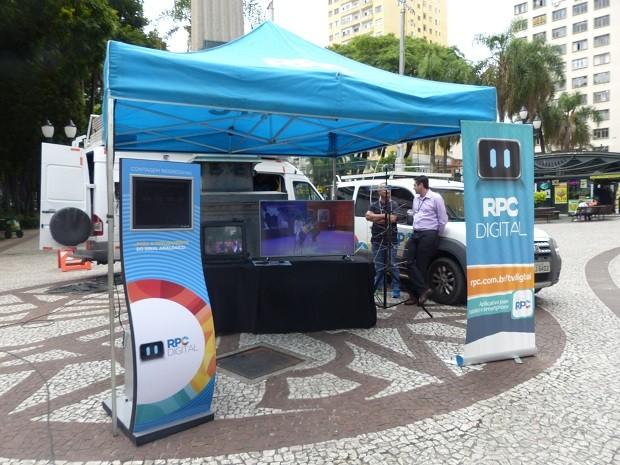 O espaço da RPC ficou na Boca Maldita, aberto aos passantes (Foto: Divulgação/RPC)