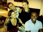 Claudia Leitte se encontra com Fernanda Souza e Thiaguinho