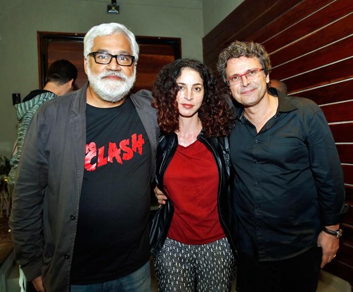 Paulo Halm, Rosane Svartman e Luiz Henrique Rios posam para o Gshow (Foto: Raphael Dias/Gshow)