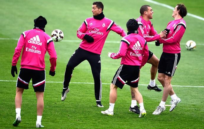 Cristiano Ronaldo, Treino Real Madrid (Foto: Agência AFP)