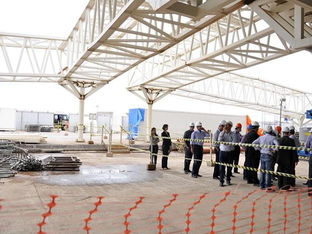 Ministro vistoriou o principal aeroporto de Mato Grosso na tarde desta quinta-feira (23). (Foto: Renê Dióz/G1)