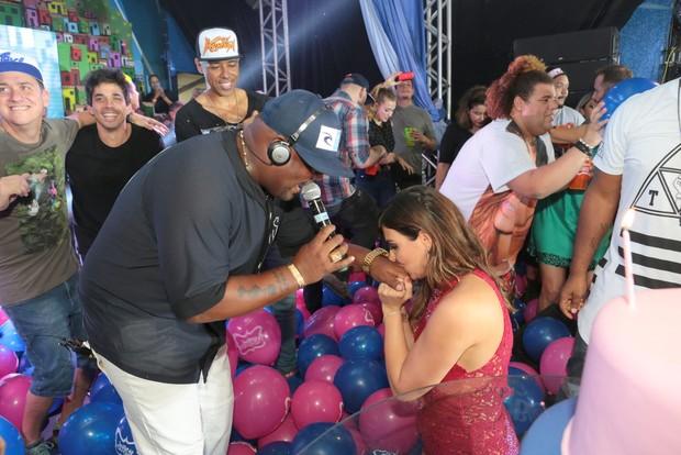 Carol Sampaio e MC Marcinho (Foto: Reginaldo Teixeira/Divulgação)