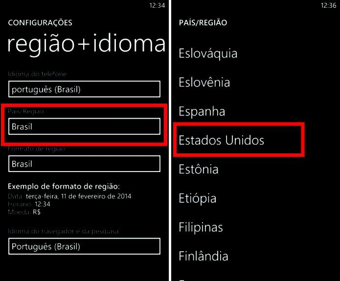O país da loja de aplicativos do Windows Phone pode influenciar na disponibilidade de apps e games (Foto: Reprodução/Elson de Souza)