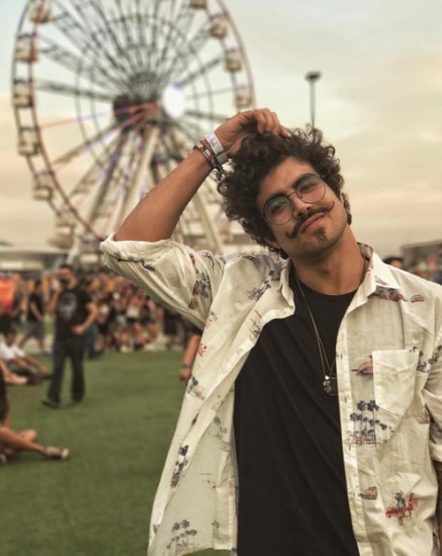 Caio Castro no penúltimo dia de Rock in Rio (Foto: Reprodução/Instagram)