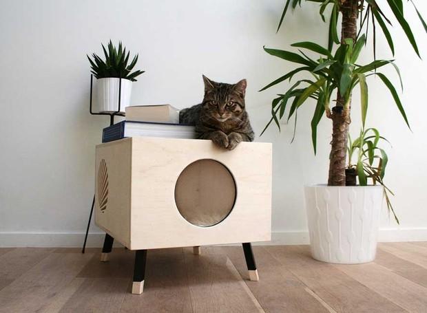 Designers desenvolvem casa para gatos com estilo for Design minimalista
