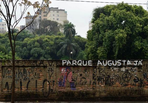 Área do Parque Augusta em São Paulo (Foto: Reprodução/Facebook)