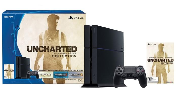 PlayStation 4 de Uncharted: The Nathan Drake Collection traz um console comum, porém com a aclamada coletânea (Foto: Reprodução/Amazon)