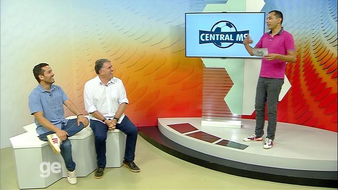 Hélder Rafael, Ricardo Freitas e Alexandre Cabral no Central MS (Foto: Reprodução/TV Morena)