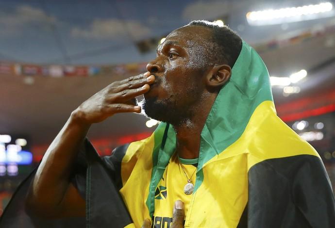 Bolt, ouro mundial de Pequim 100m 2015 (Foto: Reuters)