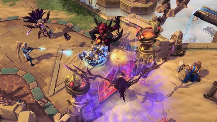 Big Head Mode em Heroes of the Storm deixa todos os elementos do jogo fofinhos (Foto: Divulgação)