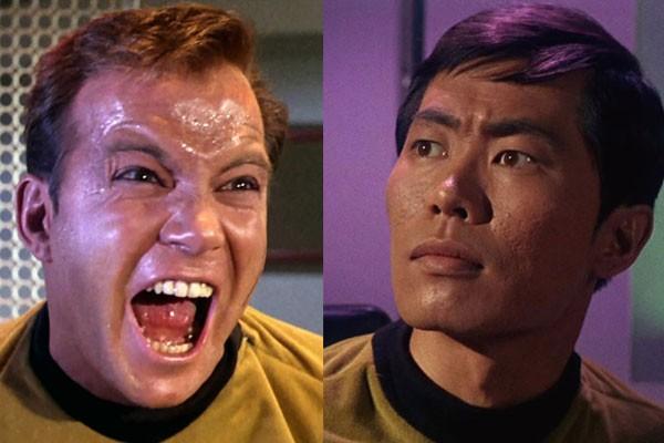 William Shatner e George Takei em 'Star Trek' (Foto: Divulgação)