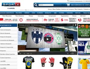 Loja virtual SporTV (Foto: Reprodução SporTV)
