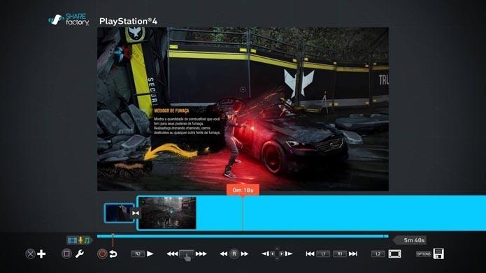 PS4 conta com ferramentas para gravar, editar e transmitir gameplays (Foto: Reprodução/Murilo Molina)