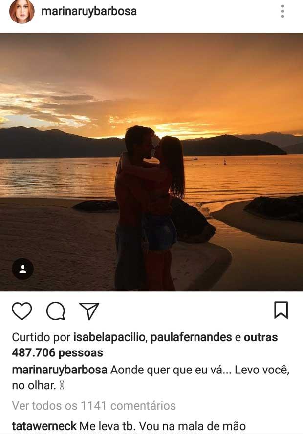 Post de Marina Ruy Barbosa (Foto: Reprodução)
