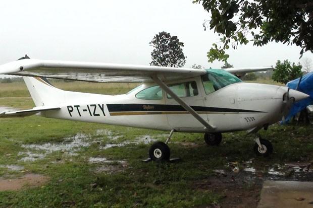 Uma das aeronaves apreendidas em operação realizada nesta sexta-feira, na região de Boa Vista (RR). (Foto: Divulgação/Polícia Federal)