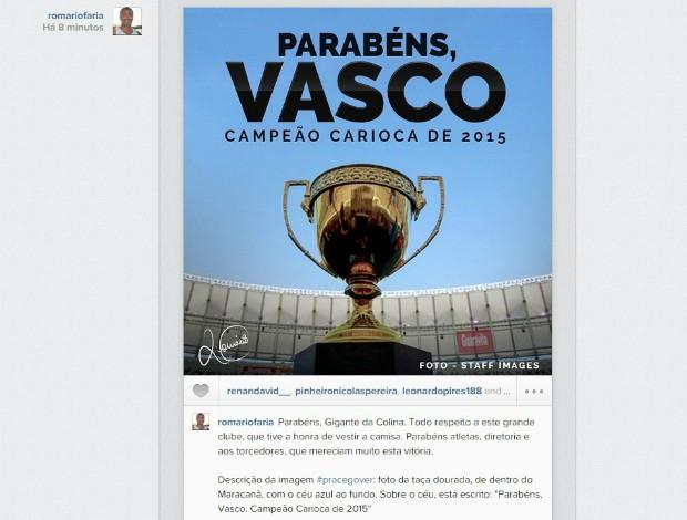 Instagram Romário, Vasco