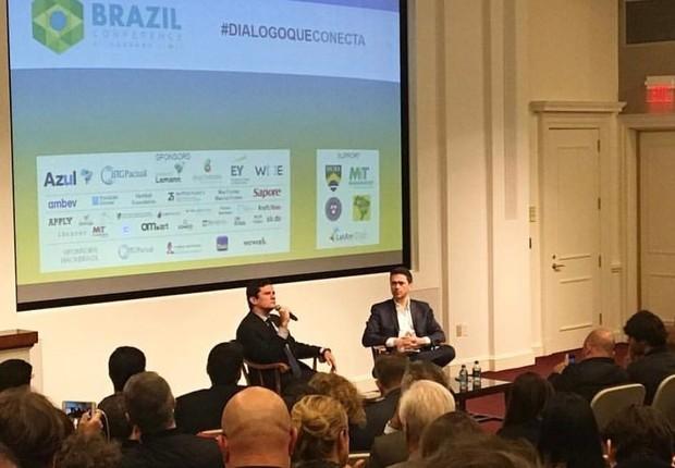 Sérgio Moro durante a Brazil Conference, evento parceria de Harvard e MIT (Foto: Divulgação)
