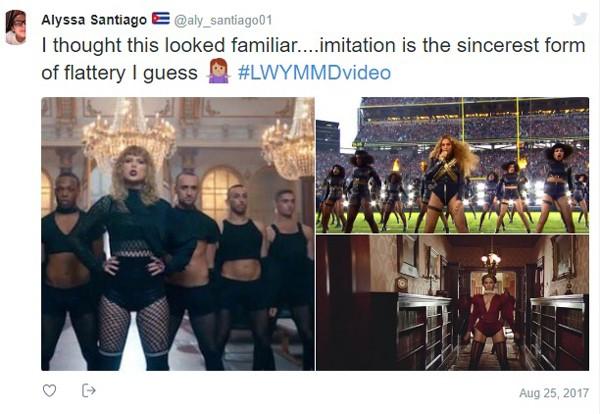 Taylor Swift é acusada de copiar Beyoncé já em prévia de novo clipe; diretor se defende (Foto:  )