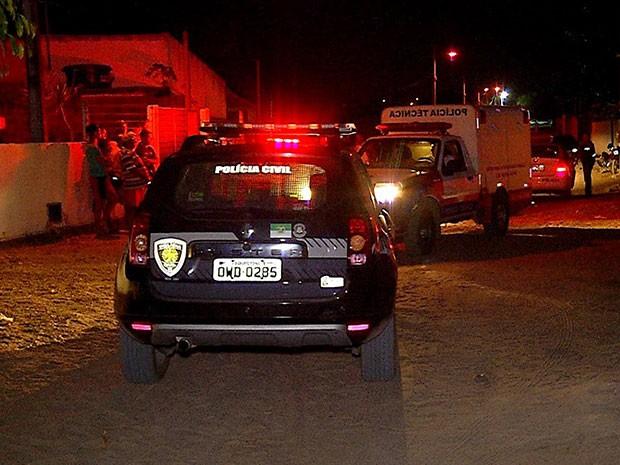 Três pessoas foram mortas na noite desta quarta em São Gonçalo do Amarante (Foto: Reprodução/Inter TV Cabugi)