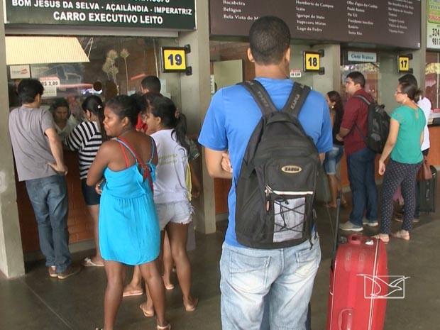 Aumenta a movimentação nos terminais de embarque de São Luís (Foto: Reprodução/TV Mirante)