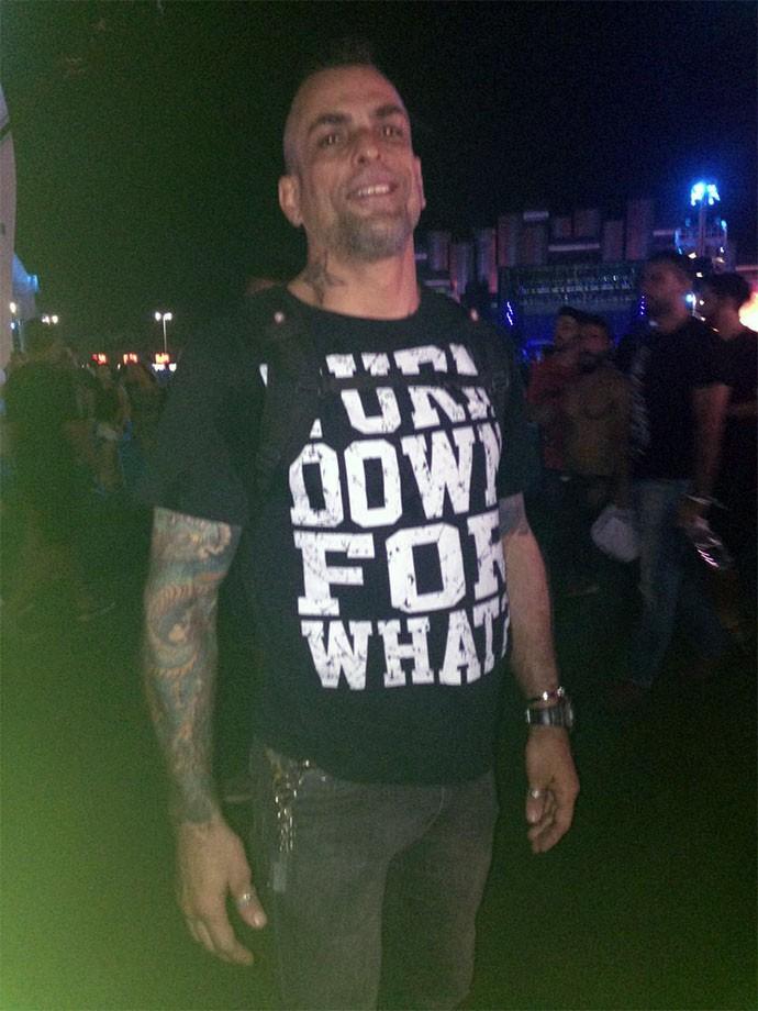O ex-BBB Dourado diz que está indo em todos os dias do metal (Foto: Carolina Morgado/Gshow)