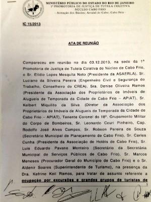 O G1 analisou toda a documentação apresentada nas reuniões (Foto: Flavio Flarys / G1)