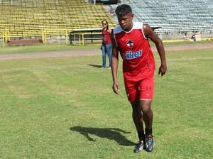 Índio, jogador do River-PI (Foto: Abdias Bideh/GloboEsporte.com)