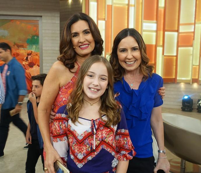 Susana Naspolini e a filha Júlia participaram do Encontro (Foto: Juliana Hippertt/Gshow)