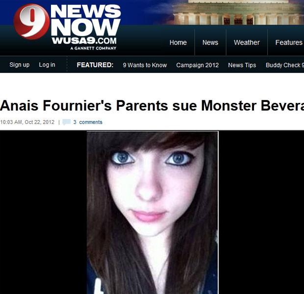 Adolescente morreu após beber energético nos EUA (Foto: Reprodução)