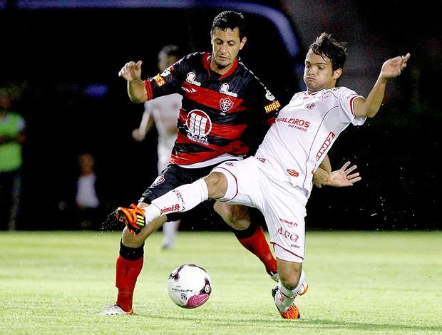 Eduardo Ramos na partida do Vitória contra o América-RN (Foto: Eduardo Martins / Ag. Estado)