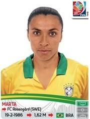 Marta Figurinhas Copa do Mundo feminina