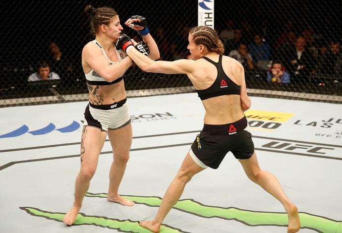 Maryna Moroz Cristina Stanciu UFC Croácia (Foto: Getty Images)