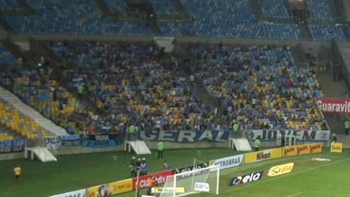 Torcida do Grêmio maracanã (Foto: Chandy Teixeira/GloboEsporte.com)