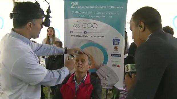 Mutirão de saúde fará exames para a prevenção da diabetes, em Curitiba (Foto: Reprodução/RPC)