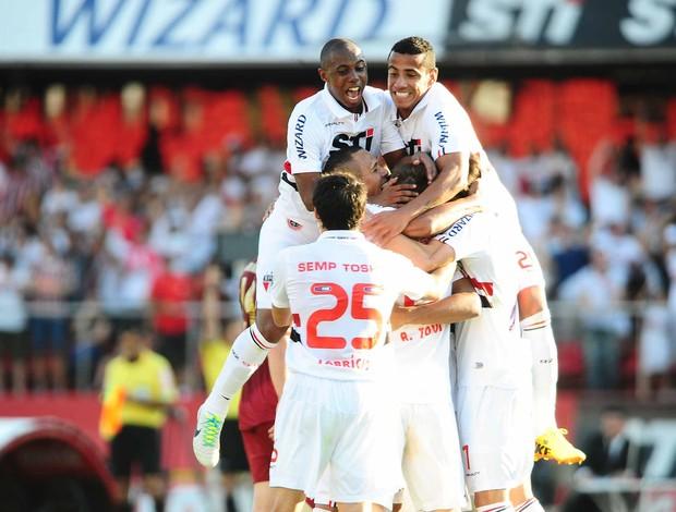 gol São Paulo x Fluminense (Foto: Marcos Ribolli / Globoesporte.com)