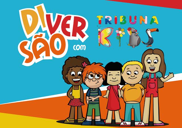 Caderno de atividades do Tribuna Kids (Foto: Arte/TV Tribuna)