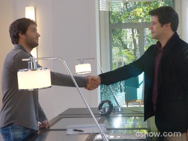 Jonas convence Davi a participar do reality (Foto: Geração Brasil/TV Globo)