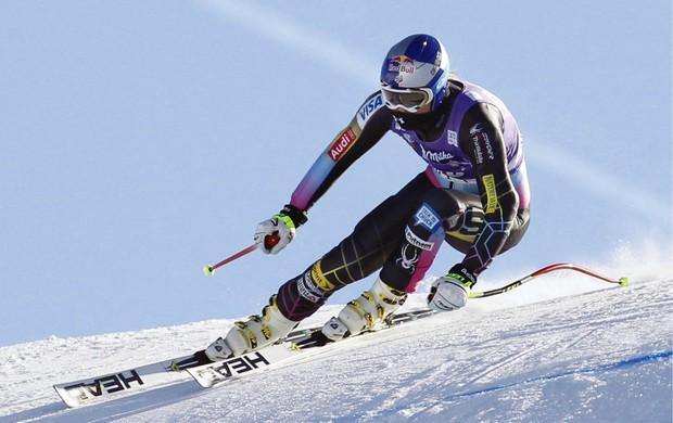 esqui alpino Lindsey Vonn treina para a Copa do Mundo de Val d'Isere (Foto: EFE)