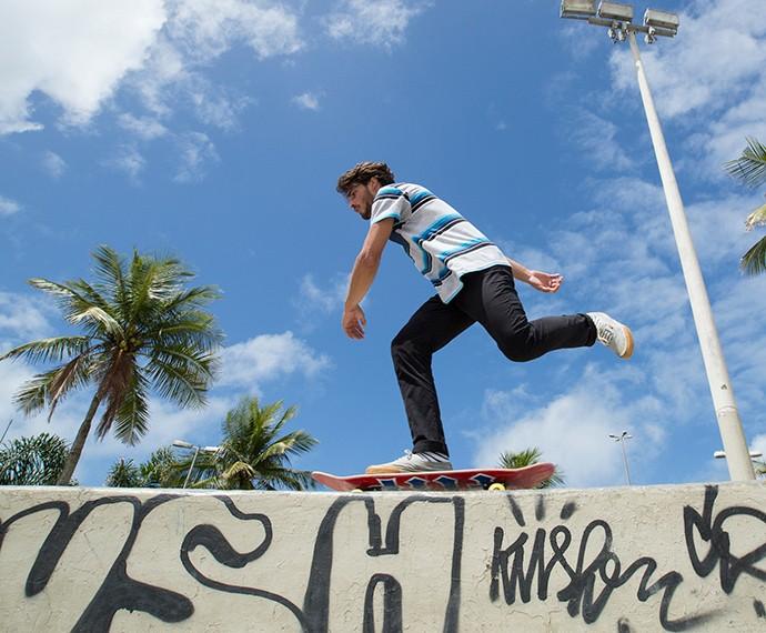 Brenno é apaixonado pos skate (Foto: Felipe Monteiro / GShow)