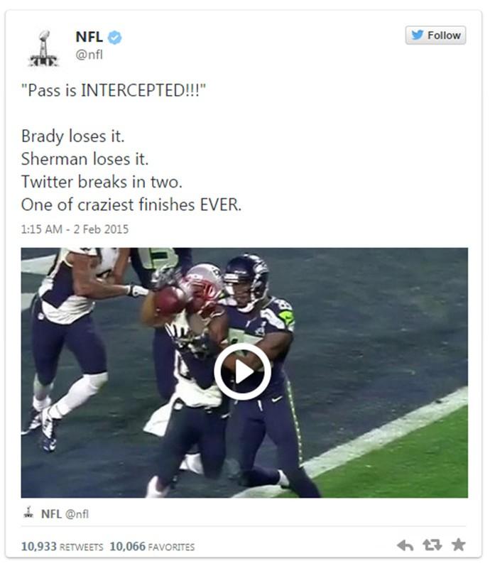Twitter NFL Super Bowl (Foto: Reprodução / Twitter)