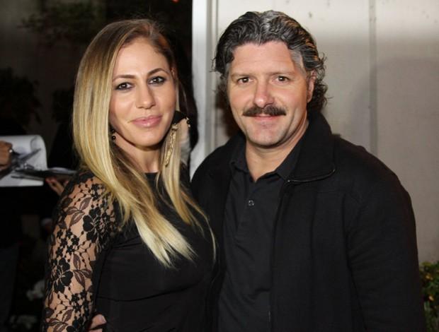 Fabio Villaverde e a mulher na festa da Danilo Faro (Foto: Caio Duran e Thiago Duran / AgNews)