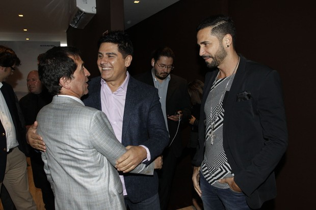 Latino, Ricardo Almeida e César Filho (Foto: Celso Tavares/EGO)