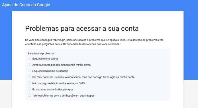 Lista de soluções dos possíveis impedimentos para realizar o login no Youtube (Foto: Reprodução/Lívia Dâmaso)