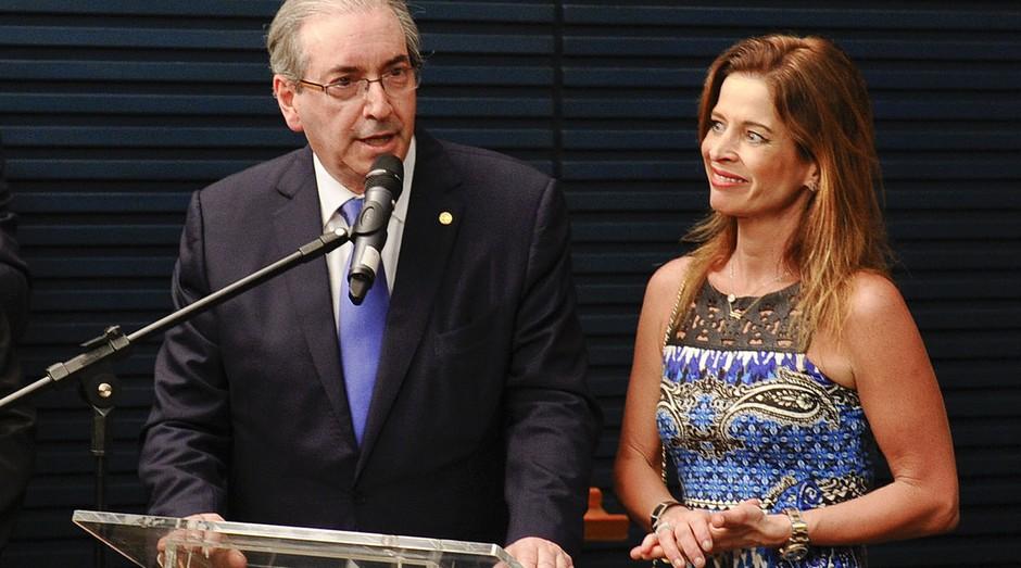 Eduardo Cunha e Cláudia Cruz: mulher de ex-deputado preso quer se livrar de acusações (Foto: Wikicommons)