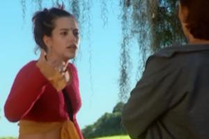A personagem vive brigando com a mãe, interpretada por Natalia do Vale (Foto: Reprodução TV Globo)
