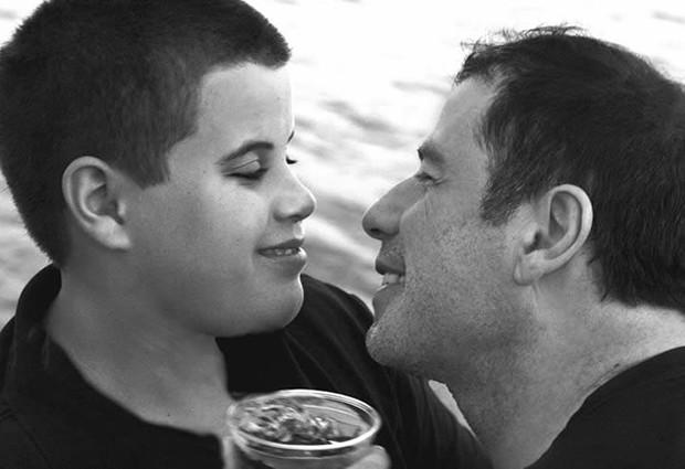 John Travolta e o filho Jett, morto em 2009 (Foto: Reprodução)