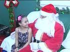 'Casa do Papai Noel' é atração para crianças na Praça Barão de Santarém