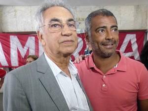 Léo Almada e Romário, eleições do America (Foto: Raffa Tamburini/America Rio)