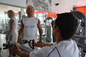 Auxiliar técnico e físico do Ariquemes, Pablo Francisco (Foto: Eliete Marques)