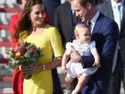 Kate, William e príncipe George iniciam viagem pela Austrália
